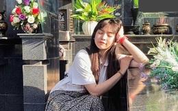 """Gây tranh cãi vì loạt ảnh tạo dáng ở bia mộ người thân, Khánh Vân lên tiếng: """"Đã tham khảo ảnh nghệ sĩ đi tảo mộ"""""""