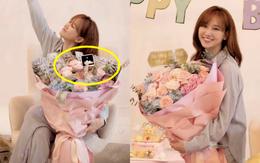 Netizen soi chi tiết lạ trên bó hoa Hari Won được tặng sinh nhật, làm rộ lên nghi vấn đang mang thai con đầu lòng?