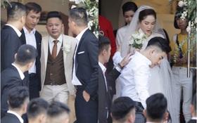 Trực tiếp đám cưới Bảo Thy: Cô dâu diện váy trắng, cùng ông xã doanh nhân di chuyển đến nhà thờ làm lễ