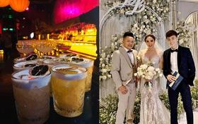 """Tiệc after wedding """"tới bến"""" như vợ chồng Bảo Thy: bao trọn cả cái lounge, tối về để nguyên vest chú rể và búi tóc cô dâu đi ngủ"""