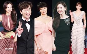 Siêu thảm đỏ Rồng Xanh 2019: Chị đại Kim Hye Soo át cả Yoona và Hoa hậu, Jung Hae In - Lee Kwang Soo dẫn đầu đoàn sao Hàn