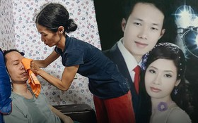 """Xúc động người vợ 10 năm chăm chồng bị liệt toàn thân ở Hà Nội: """"Nếu không có anh, tôi không sống nổi"""""""