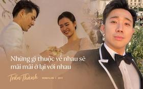 Không chỉ nhắc chuyện quá khứ của Hari Won, Trấn Thành còn gây sốc bởi loạt câu nói trong siêu đám cưới Đông Nhi và Ông Cao Thắng