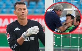"""Thủ môn Việt Nam lên tiếng về bức ảnh bị bóp cổ ở SEA Games: """"Thầy muốn tôi ở lại chứng kiến thất bại của đội nhà"""""""