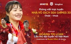 """""""Hot girl bóng đá"""" Hoàng Thị Loan đang trò chuyện trực tuyến với độc giả Kenh14.vn"""