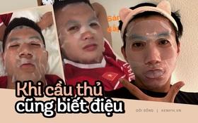 Đắp mặt nạ thôi chưa đủ, hết dưỡng môi rồi vui vui lại ra salon làm tóc thì bảo sao tuyển Việt Nam chả toàn visual đỉnh cao!