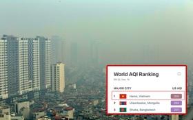 """Không khí Hà Nội tiếp tục ô nhiễm nghiêm trọng khiến nhiều người phải thốt lên đầy hoang mang: """"Không muốn bước ra đường luôn"""""""