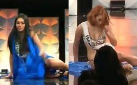 Đại diện Pháp, Malaysia, Malta đồng loạt trượt chân, vấp ngã ngay trên sân khấu, lọt vào ống kính Miss Universe 2019