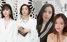 Rõ ràng không phải ruột thịt, các hot girl này trông lại như chị em sinh đôi, nhất là Tú Hảo - Châu Bùi