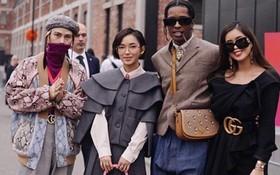 Xuất hiện quá chất tại show Gucci, Châu Bùi và Decao được rapper đình đám A$AP Rocky chủ động chào