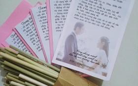 Đám cưới #livegreen dễ thương hết sức ở Lâm Đồng: Cô dâu chú rể nói không với túi nilon và chai nhựa, chuẩn bị sẵn túi vải cho khách