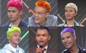 No mắt với bảng màu sặc sỡ các kiểu đầu chất chơi của thí sinh Rap Việt!