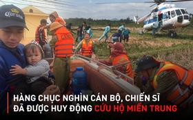 Gần một tháng qua, hàng chục nghìn cán bộ chiến sĩ được huy động ứng cứu, hỗ trợ đồng bào bão lũ: Nhân dân ổn định lại cuộc sống thì mới rút quân