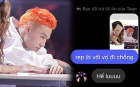 """Tage năn nỉ các fan bình tĩnh khi bị spam loạt tin nhắn: """"Rep inbox chồng ơi"""" sau vòng 3 Rap Việt"""