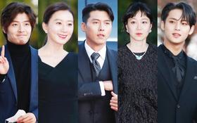 """Quân đoàn sao đổ bộ thảm đỏ khủng: Hyun Bin ngời ngời sau tin kết hôn, Junsu - SEVENTEEN """"cứu"""" 2 màn dìm visual gây choáng"""