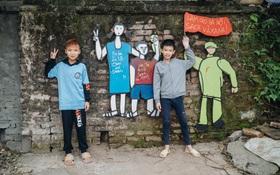 Chùm ảnh: Khi bãi tập kết rác ven sông Hồng trở thành 16 tác phẩm nghệ thuật đương đại