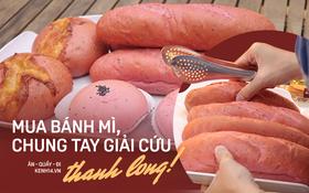 """Ăn thử bánh mì thanh long đang """"gây bão"""" Sài Gòn hiện tại, liệu hương vị có gì khác biệt so với loại bình thường ta vẫn hay ăn?"""