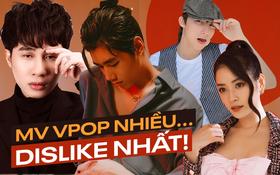 """Những MV bị """"ghét"""" nhất Vpop: K-ICM phá mọi kỷ lục chỉ trong 1 ngày, Sơn Tùng M-TP có tới... 4 sản phẩm nằm top"""
