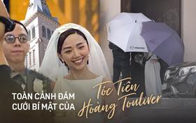 Toàn cảnh đám cưới bí mật của Tóc Tiên - Hoàng Touliver tại Đà Lạt: An ninh thắt chặt, bảo vệ căng dù che kín hình ảnh cô dâu