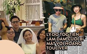 """Tóc Tiên giải đáp lý do tổ chức đám cưới bí mật với Hoàng Touliver: """"Mình đã lộng lẫy cả cuộc đời nghệ thuật rồi"""""""
