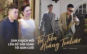 Dàn khách mời lên đồ, sẵn sàng tới đám cưới Tóc Tiên - Hoàng Touliver: Andree, Kelbin diện vest bảnh bao, hội bạn thân đang gấp rút có mặt!