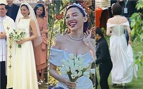 Ngắm 2 bộ váy cưới mới thấy ngưỡng mộ gu thời trang của Tóc Tiên, chiếc nào cũng tinh giản nhưng xinh, sang và gợi cảm quá đỗi