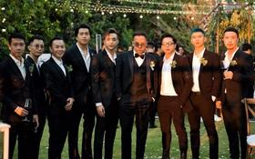 """Khoảnh khắc """"căng đét"""" trong đám cưới Tóc Tiên: Touliver và hội bạn chí cốt underground cực phẩm chung khung hình!"""