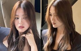 Xinh rụng rời với tóc nâu môi trầm, Song Hye Kyo có diện đồ hơi nhạt vẫn được dân tình tha thứ hết