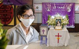 Tang lễ cố diễn viên Mai Phương: Người cha nén đau thương, lặng lẽ đứng bên linh cữu con gái