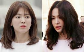 Mái tóc lửng lơ không ngắn không dài vậy mà trẻ lâu và sang hết biết, hèn chi Song Hye Kyo gắn bó suốt cũng phải