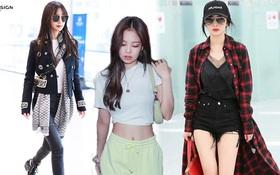 """Thời trang sân bay của sao Hoa Hàn cũng lắm drama: Từ thuê người chụp, photoshop chán chê cho tới thay """"n"""" bộ làm màu"""