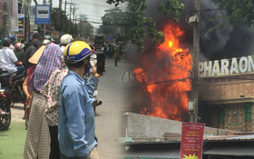 Cháy quán Karaoke ở Sài Gòn, nhiều người tụ tập đứng xem và livestream dù đang cao điểm chống dịch Covid-19