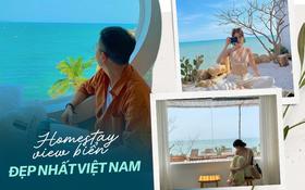 Khắp Việt Nam có những homestay chỉ cần mở cửa ra là thấy biển ngay trước mặt, xinh đến nỗi ai cũng ngỡ chỉ có trong phim