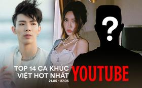 """14 ca khúc Việt hot nhất Youtube tuần qua: Bích Phương """"cướp"""" ngôi vương của Hòa Minzy, Erik bám trụ vững chắc, riêng Jack chiếm đến 4 vị trí"""
