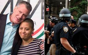 """Thị trưởng New York nói về con gái bị bắt trong cuộc biểu tình: """"Con bé chỉ muốn nhìn thấy một thế giới tốt đẹp và hoà bình hơn"""""""