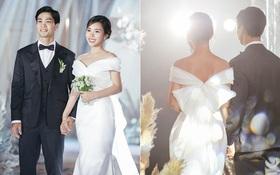 Điểm 10 hoàn mỹ dành cho bộ váy cưới của vợ Công Phượng: Thiết kế trễ vai nhẹ nhàng, tôn dáng cho cô dâu nhỏ nhắn