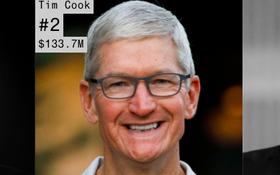 Thu nhập 133 triệu USD trong năm 2019, Tim Cook cũng chỉ đứng thứ 2 trong làng công nghệ