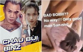 """Vừa bị khui chuyện hẹn hò, Châu Bùi đã ngay lập tức lên tiếng bênh Binz không phải """"bad boy""""?"""