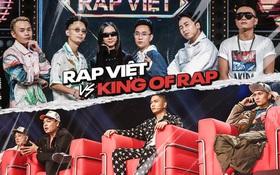 """So kè 2 show Rap hot nhất 2020: """"Rap Việt"""" dẫn trước """"King Of Rap"""" không bàn cãi!"""