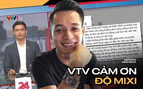 BTV Việt Hoàng và cộng sự lên tiếng cám ơn Độ Mixi ngay trên sóng truyền hình VTV