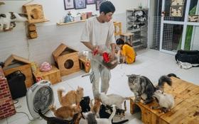 """Chàng trai 24 tuổi bỏ công việc ổn định để cứu trợ mèo, """"mái ấm"""" của các bé mèo lên hãng thông tấn AFP của Pháp"""