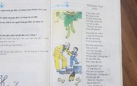 """Hoang mang với """"phiên bản mới"""" của bài thơ Thương ông trong sách tiếng Việt lớp 2: Vần điệu trúc trắc, khó nhớ, nội dung xa lạ?"""