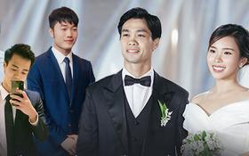 """Đội bê tráp """"xịn sò"""" toàn tuyển thủ Việt Nam ở đám cưới Công Phượng - Viên Minh"""