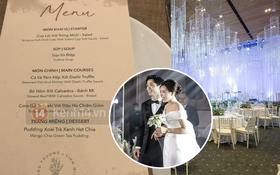 Lộ thực đơn tiệc cưới phong cách châu Âu - Nhật Bản do đích thân Công Phượng và Viên Minh lựa chọn