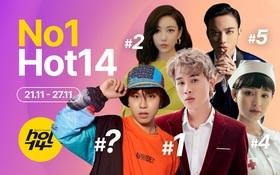 Jack giành lại no.1 từ Min sau 2 tuần, Hiền Hồ cùng Soobin đua tranh gay gắt trong top 5 BXH HOT14