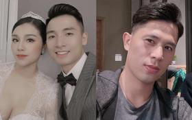 """Bùi Tiến Dũng """"nhá hàng"""" hình cưới với Khánh Linh, ngoại hình bốc lửa của cô dâu lại bị bình luận của Đình Trọng chiếm spotlight"""