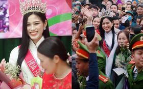 Cập nhật HHVN Đỗ Thị Hà về làng: Nàng hậu đeo vương miện, rạng rỡ phát biểu trước toàn thể người dân, Huyện Hậu Lộc thưởng 5 triệu đồng