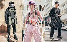 """Street style ngày 2 Aquafina Vietnam International Fashion Week 2020: bạn nam diện ngay áo dài trượt skate cực chất, không khí """"xôm"""" hơn hẳn với nhiều outfit ấn tượng"""