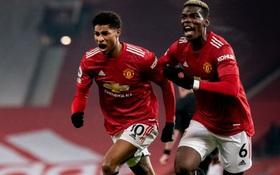 Thắng kịch tính trận cuối cùng của năm, MU lên nhì bảng Ngoại hạng Anh