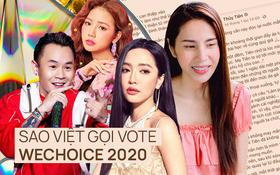 Vbiz rần rần vì WeChoice Awards 2020: Sao Việt đăng đầy newsfeed, fanpage NS Chí Tài chia sẻ đầy xúc động, Binz - Hoà Minzy gấp rút kêu gọi